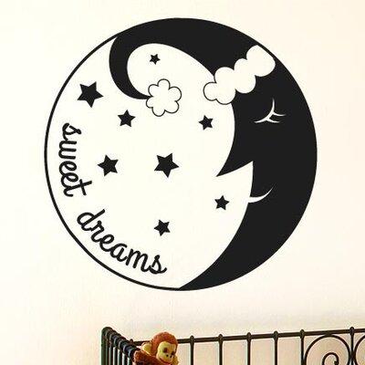 Cut It Out Wall Stickers Sweet Dreams Sleeping Moon Wall Sticker