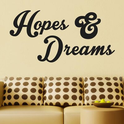 Cut It Out Wall Stickers Hope And Dreams Wall Sticker