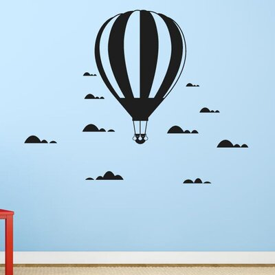 Cut It Out Wall Stickers Hot Air Balloon In The Clouds Wall Sticker