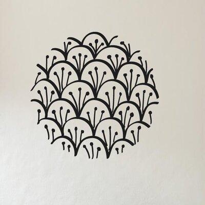 Cut It Out Wall Stickers Layard Flower Pattern Within Circle Wall Sticker