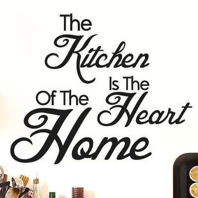 Cut It Out Wall Stickers The Kitchen Is the Heart of the Home Wall Sticker
