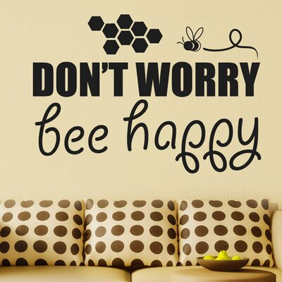 Cut It Out Wall Stickers Dont Worry Bee Happy Wall Sticker