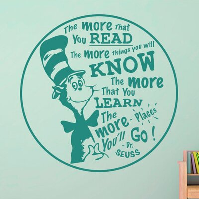 Cut It Out Wall Stickers The More That You Read the More Things You Will Know Wall Sticker
