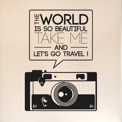 Cut It Out Wall Stickers The World Beautiful Take Me Travel Wall Sticker