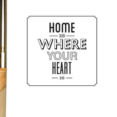 Cut It Out Wall Stickers Home Is Where Your Heart Is Wall Sticker