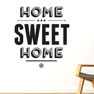 Cut It Out Wall Stickers Home Sweet Home Show Case Wall Sticker