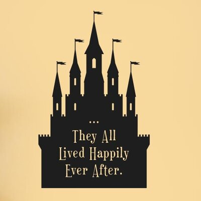 Cut It Out Wall Stickers They All Lived Happily Ever After Fairytale Wall Sticker