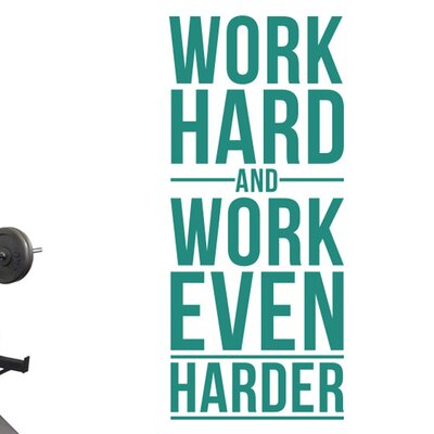 Cut It Out Wall Stickers Work Hard And Work Even Harder Wall Sticker