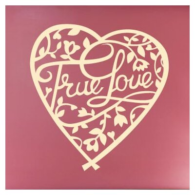 Cut It Out Wall Stickers True Love Floral In Heart Wall Sticker