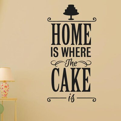 Cut It Out Wall Stickers Home Is Where The Cake Is Wall Sticker