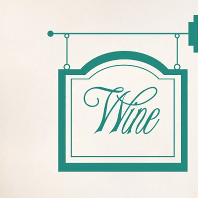 Cut It Out Wall Stickers Wine Shop Sign Wall Sticker
