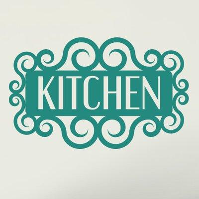 Cut It Out Wall Stickers Swirly Kitchen Sign Wall Sticker