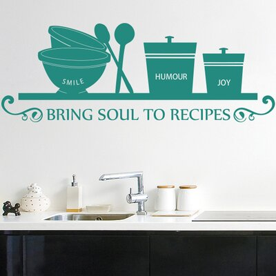 Cut It Out Wall Stickers Smile Humour Joy Bring Soul To Recipes Wall Sticker