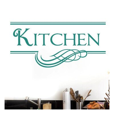 Cut It Out Wall Stickers Kitchen Underlined Motif Wall Sticker