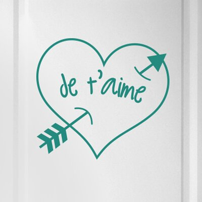 Cut It Out Wall Stickers Je Taime Arrow Through Heart Door Room Wall Sticker
