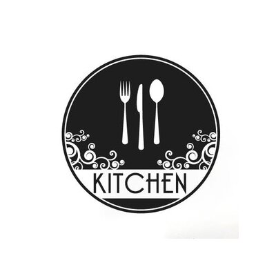 Cut It Out Wall Stickers Kitchen Cutlery Circle Wall Sticker