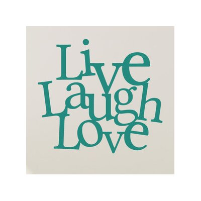 Cut It Out Wall Stickers Live Laugh Love Together Wall Sticker