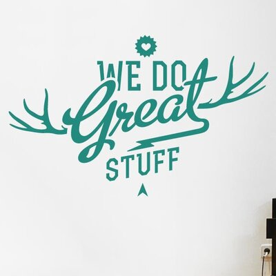 Cut It Out Wall Stickers We Do Great Things Wall Sticker
