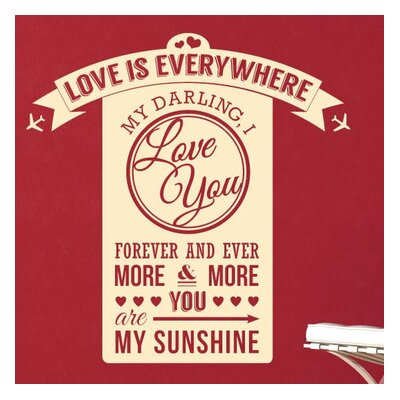 Cut It Out Wall Stickers Love Is Everywhere Darling I Love You Wall Sticker