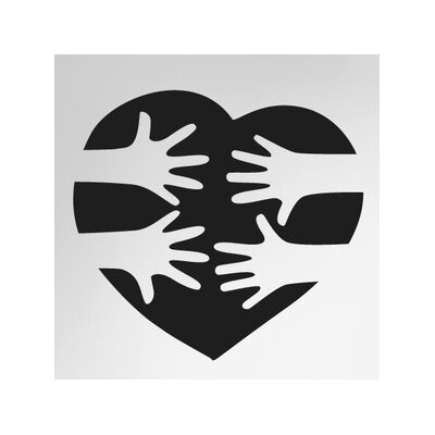 Cut It Out Wall Stickers Love Heart Reaching Hands Wall Sticker
