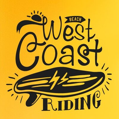 Cut It Out Wall Stickers West Coast Riding Beach Wall Sticker