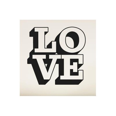 Cut It Out Wall Stickers L O V E in 3D Wall Sticker
