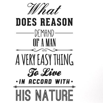 Cut It Out Wall Stickers What Does Reason Demand of a Man Wall Sticker
