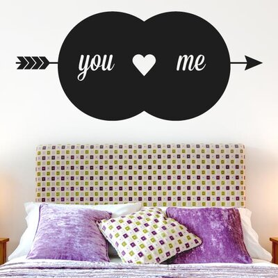 Cut It Out Wall Stickers You Love Me Arrow Through Heart Wall Sticker