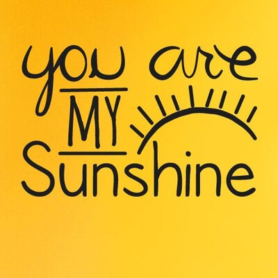 Cut It Out Wall Stickers You Are My Sunshine Wall Sticker
