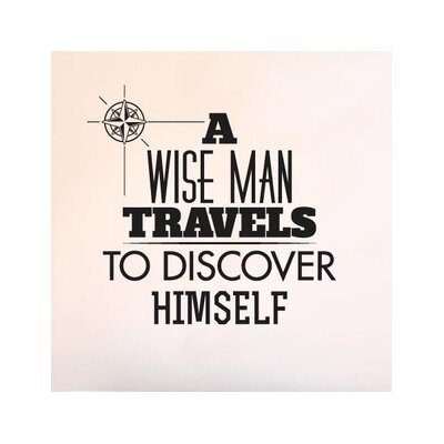 Cut It Out Wall Stickers Wise Man Travels To Discover Himself Wall Sticker