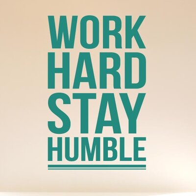 Cut It Out Wall Stickers Work Hard Stay Humble Wall Sticker