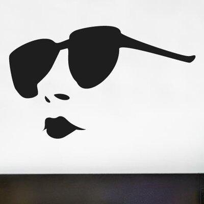 Cut It Out Wall Stickers Woman Wearing Sunglasses Wall Sticker