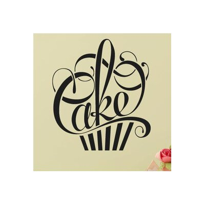 Cut It Out Wall Stickers Writing In Form Of A Cake Wall Sticker