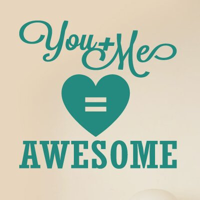 Cut It Out Wall Stickers You and Me Equals Awesome Wall Sticker