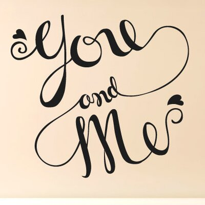 Cut It Out Wall Stickers You and Me Intertwined Wall Sticker