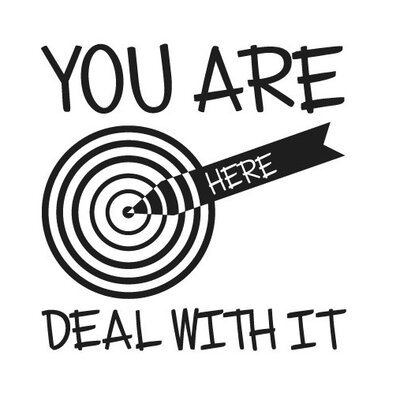 Cut It Out Wall Stickers You Are Here Deal with It Wall Sticker