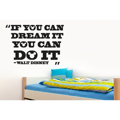 """Cut It Out Wall Stickers Walt Disney """"If You Can Dream It You Can Do It"""" Wall Sticker"""