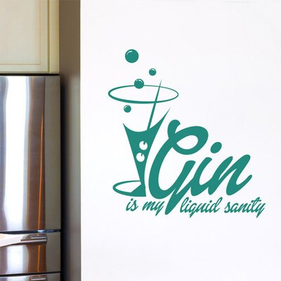 Cut It Out Wall Stickers Gin Is My Liquid Sanity Wall Sticker