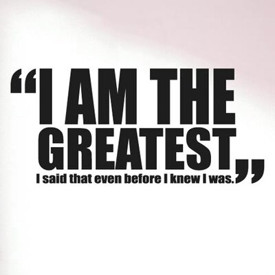 Cut It Out Wall Stickers I Am The Greatest Muhammad Ali Quote Wall Sticker
