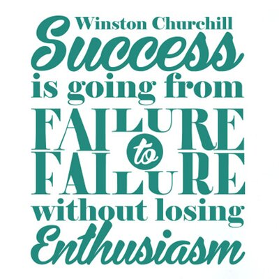 Cut It Out Wall Stickers Winston Churchill Success Is Going From Failure To Failure Without Losing Enthusiasm Wall Sticker