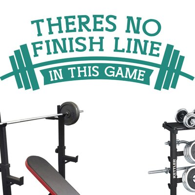 Cut It Out Wall Stickers Theres No Finish Line In This Game Wall Sticker