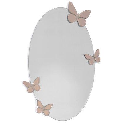 EMDÉ Classy and Feminin Butterflies Oval Mirror