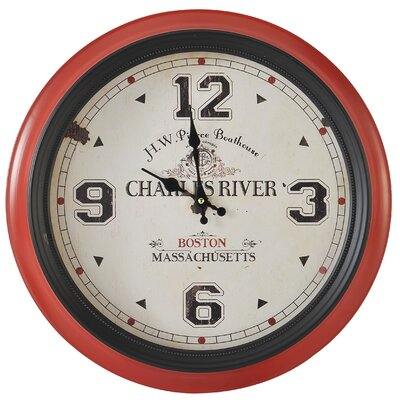 EMDÉ Time To Boston Oversized 47 cm Wall Clock