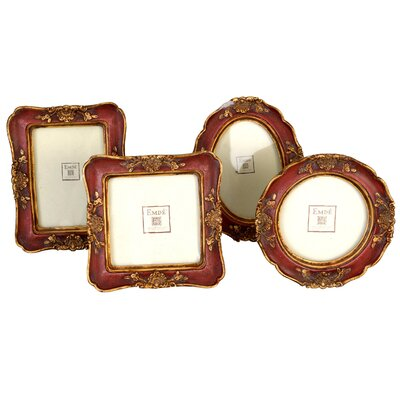EMDÉ Brooklyn 4 Piece Mini Ornate Picture Frame Set