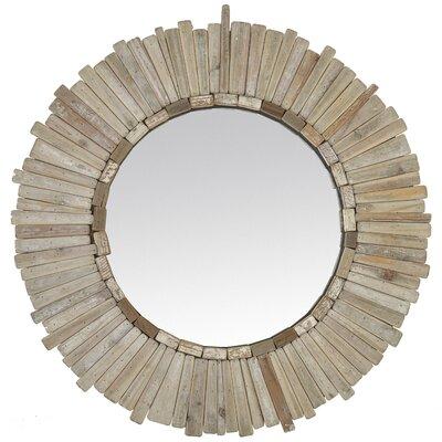 EMDÉ Smart Chalet Wooden Round Mirror