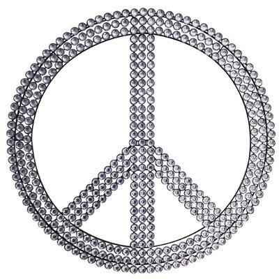 EMDÉ Peace and Love Strass Wall Décor