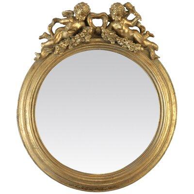 EMDÉ Shabby Elegance Angels Round Mirror