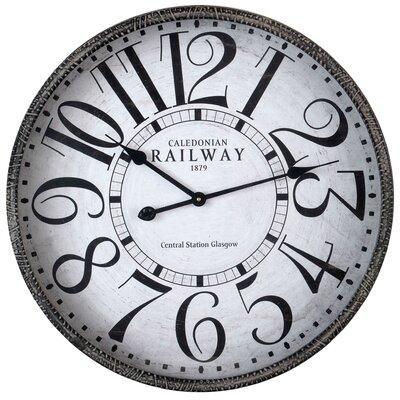 EMDÉ Time To Railway Oversized 60 cm Wall Clock