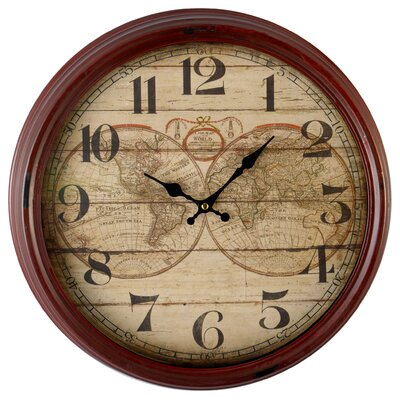 EMDÉ World Map 48 cm Oversized Wall Clock