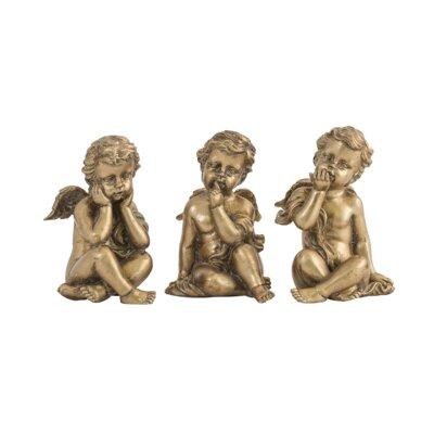 EMDÉ 3 Piece Seated Angels Figurine Set